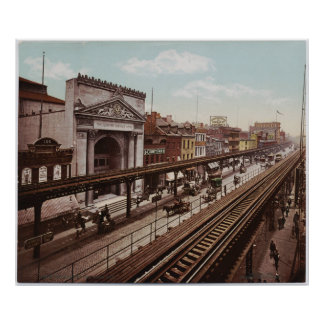 The Bowery New York City Photo-Print (1898) Poster