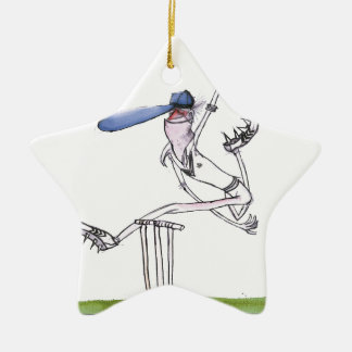 the bowler - cricket, tony fernandes ceramic ornament