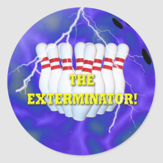 The Bowling Champ Classic Round Sticker