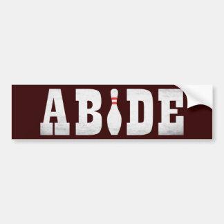 The Bowling Dude Abides Car Bumper Sticker