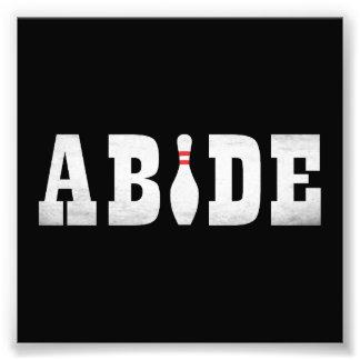 The Bowling Dude Abides Photo Print