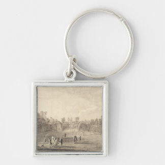 The Bowling Green at Claremont, 1738 (engraving) Keychain