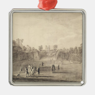 The Bowling Green at Claremont, 1738 (engraving) Christmas Tree Ornament