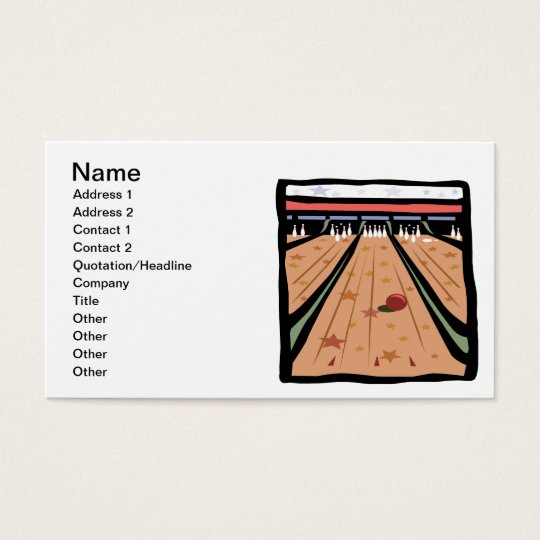 The Bowling Lanes Business Card