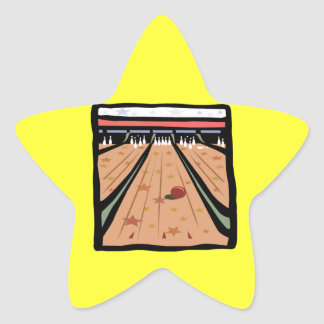 The Bowling Lanes Star Sticker