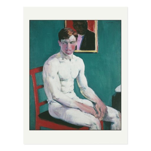 The Boxer by Francis Cadell Post Card
