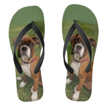 THE BOXER DOG flip flops