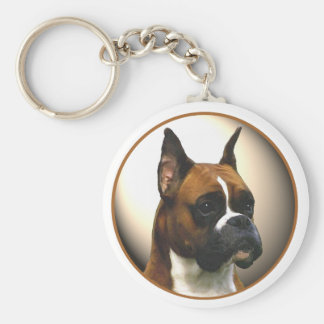 The Boxer Dog Keychain