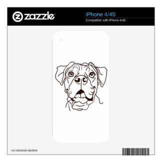 The Boxer Love of My Life Decal For The iPhone 4S