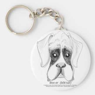 The Boxer Sketch Keychain