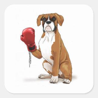 The Boxer Square Sticker