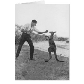 The Boxing Kanga and Bill Boyd. Card