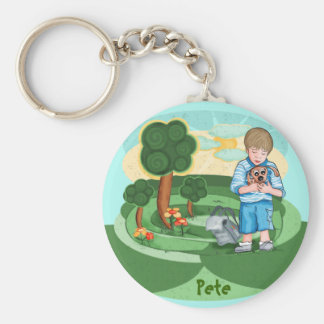 The Boy And His Dog - kids keychain