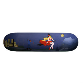The Boy and the Witch Skateboard Deck