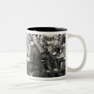The Boy Gambles his Money, plate 2 of 'The Drunkar Two-Tone Coffee Mug