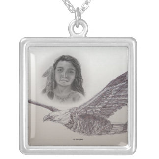 The Boy who flew with Eagles: Monochrome Pendant