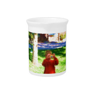 The Boy with the Camera Beverage Pitchers