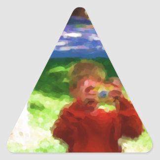 The Boy with the Camera Triangle Sticker