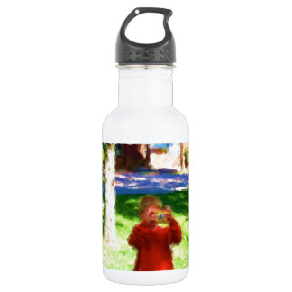 The Boy with the Camera Water Bottle