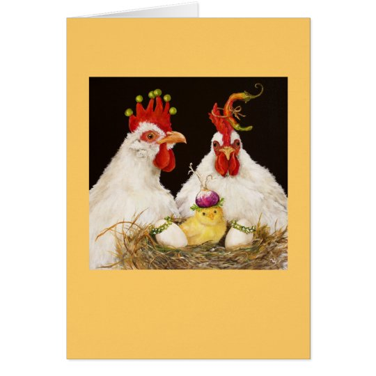 The Boyds chicken family card