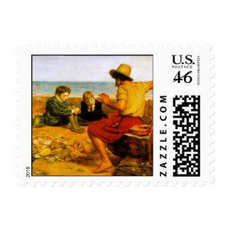 The Boyhood of Raleigh Postage Stamp