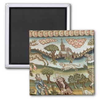 The Bradford Table Carpet 2 Inch Square Magnet