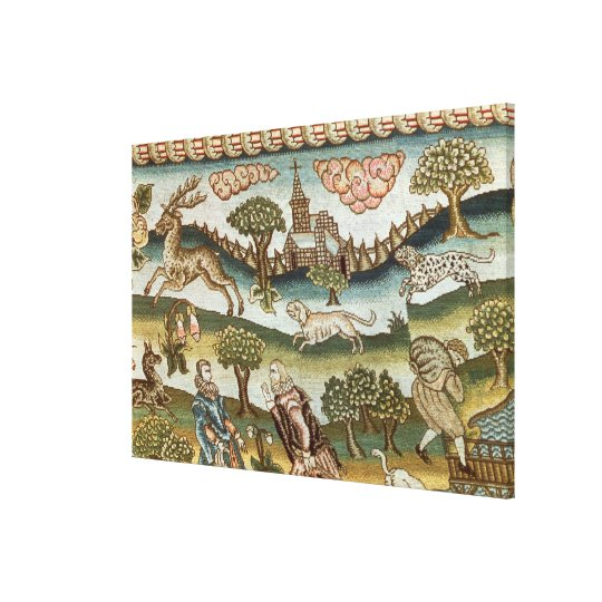 The Bradford Table Carpet Canvas Print