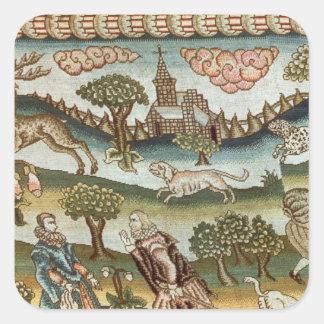 The Bradford Table Carpet Square Sticker