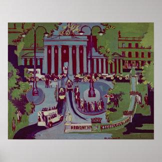 The Brandenburg Gate, Berlin, 1929 Poster