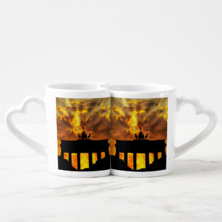 The Brandenburg Gate, Berlin Couples' Coffee Mug Set