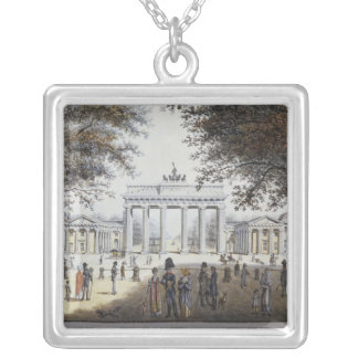 The Brandenburg Gate, Berlin Silver Plated Necklace