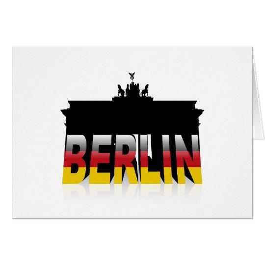 The Brandenburg Gate in Berlin (Germany) Card