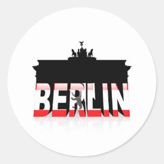The Brandenburg Gate in Berlin Round Stickers