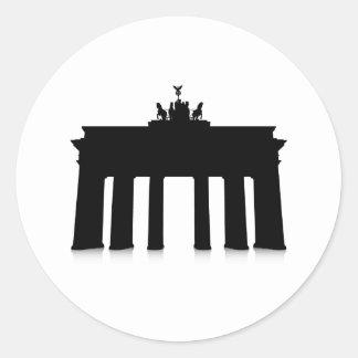 The Brandenburg Gate Round Sticker