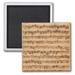 The Brandenburger Concertos, No.5 D-Dur, 1721 2 Inch Square Magnet