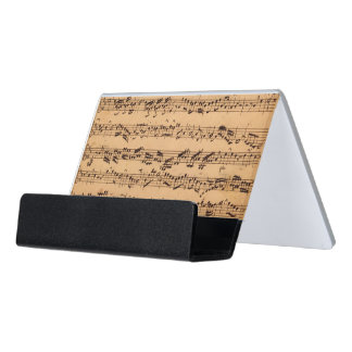 The Brandenburger Concertos, No.5 D-Dur, 1721 Desk Business Card Holder