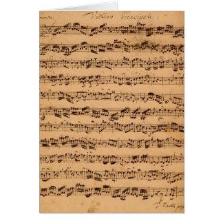 The Brandenburger Concertos, No.5 D-Dur, 1721 Greeting Card