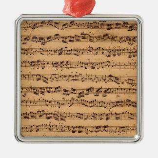The Brandenburger Concertos, No.5 D-Dur, 1721 Metal Ornament