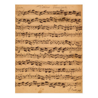 The Brandenburger Concertos, No.5 D-Dur, 1721 Postcard