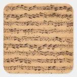 The Brandenburger Concertos, No.5 D-Dur, 1721 Square Stickers