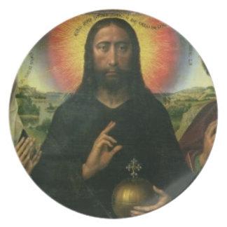 The Braque Family Triptych: (LtoR) St. John the Ba Melamine Plate