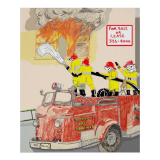 The Brave Firefighters Poster