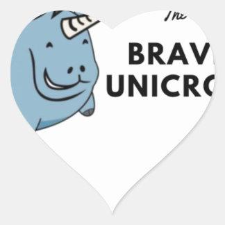 The Brave Unicorn Heart Sticker