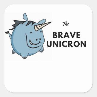 The Brave Unicorn Square Sticker