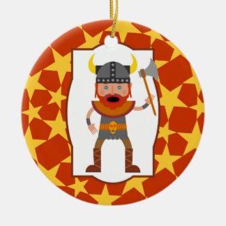 The brave viking warrior ceramic ornament