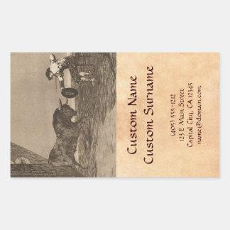 The Bravery of Martincho in the Ring of Saragassa Rectangular Sticker