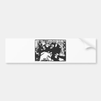 The brawl at the scene or cafe by Felix Vallotton Bumper Sticker