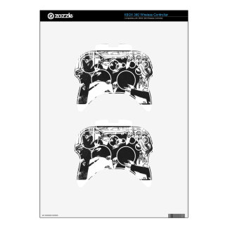 The brawl at the scene or cafe by Felix Vallotton Xbox 360 Controller Decal