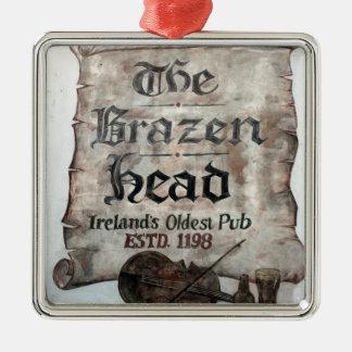 The Brazen Head pub, Dublin, Ireland Metal Ornament