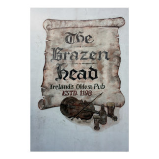 The Brazen Head pub, Dublin, Ireland Poster
